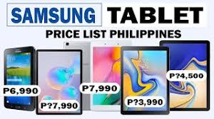 samsung tablet list in the