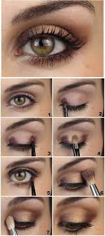 brown and gold soft eye makeup tutorial pinit