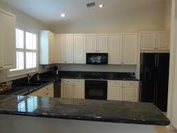 Gorgeous Modern Kitchen With Black Appliances Kitchen Design White ...
