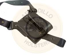 picture of black leather vertical shoulder holster for 1911