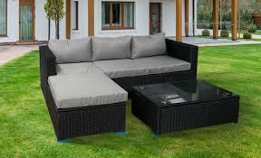 black semi circle sofa set outdoor