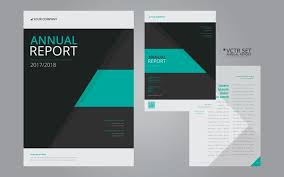 Annual Report Elegant Geometric Flat Design Template Download Free Delectable Annual Report Template Design