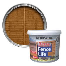 Ronseal 5 Year Harvest Gold Matt Shed & Fence Stain 9L | Departments | DIY  at B&Q