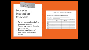 The Importance Of A Move In Inspection Checklist
