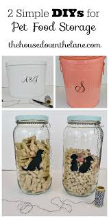 2 Simple DIYs for Pet Food Storage, part of our Hall Closet Makeover series.