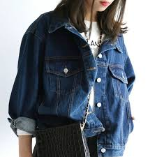 <b>Women Denim</b> Jacket <b>Harajuku</b> Bf <b>Jean</b> Coat <b>Casual</b> Loose ...
