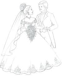 Wedding Dress Coloring Pages Beautiful Wedding Dress Coloring Pages