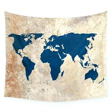 world map wall tapestries rustic tapestry poster society6
