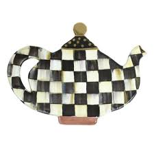 mackenzie childs courtly check teapot trivet
