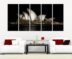 large wall art sydney opera house 5 panel canvas print australia can extra large wall art canvas print on wall art sydney with large wall art sydney opera house 5 panel canvas print australia