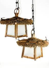 tiki lighting. Vintage Tiki Lamp Swag Lights Hanging Bamboo Tropical Bar Restaurant Mid Century #MiyabiAndon Lighting