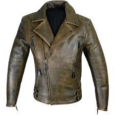men s elite patrol antique brown leather jacket