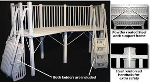 above ground pool deck kits. 5\u0027 X 13\u0027 Deck System W/ Ladders In Taupe (SOLD OUT) | Royal Swimming Pools Above Ground Pool Deck Kits O