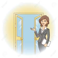 open door welcome. Modren Welcome Vector  Welcome In The Open Door Guests Illustration With Open Door 4