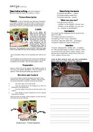 writing worksheets writing iii descriptive writing