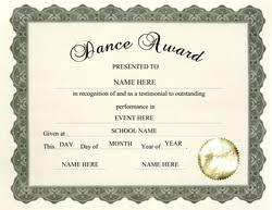 Dance Award Certificate Awards Free Templates Clip Art Wording Geographics