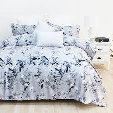 design republique silver bird velvet duvet cover set