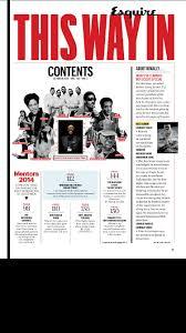 Magazine Content Page Layout Design Esquire Magazine Editorial Design Magazine Layout Design