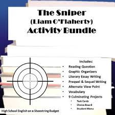 best the sniper images snipers the sniper and set of activities for use the short story ldquothe sniperrdquo by liam o