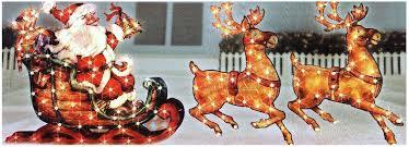 outdoor reindeer decorations lighted and sleigh popular figurines uk