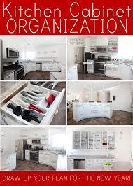 kitchen cabinet organization plan