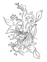 koi fish coloring pages for kids | Free Coloring Pages For Kids