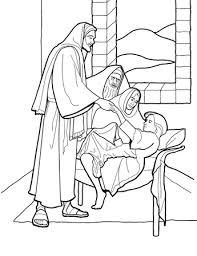 Christus Wekt Het Dochtertje Van Jaïrus Op Kleurplaat