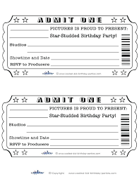 Play Ticket Template Party Ticket Template Free Baseball Ticket Invitation Template Free