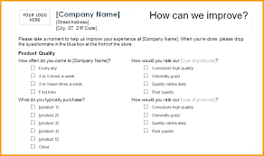 Printable Survey Forms Fascinating Create Outlook Email Form Survey Template Word Templates Excel