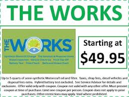 ford works ford service coupons car truck repair oil change brighton