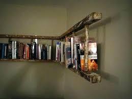 rustic ladder bookshelf antique wooden corner bookshelves with shelf design wood grey rusti
