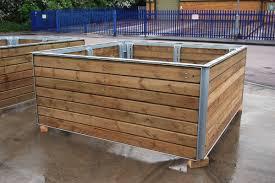 rectangular wooden planters uk designs
