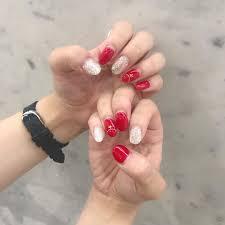 山本瑠香 7月のネイル 赤とシルバーラメと星ストーン Nail