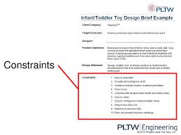 Engineering Design Brief Writing A Design Brief 2012 Project Lead The Way Inc