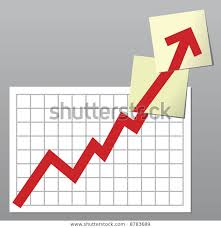 Business Chart Line Exceeding Top Borders Royalty Free