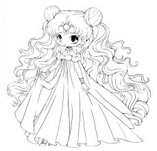 anime easy to draw blank coloring pages best print images on chibi printable co cute coloring pages