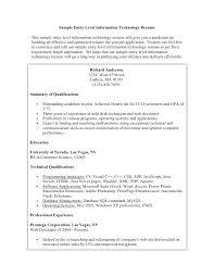information technology skills resume sample student 3 entry level