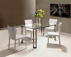 image of small glass top dining table set 4 chairs