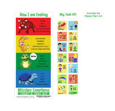 Emotion Chart For Kids Mission Emotions Chart Tool Kit Boys