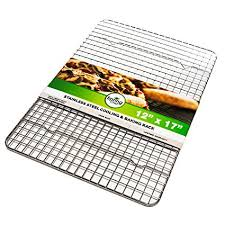cookie sheet with cooling rack amazon com spring chef cooling rack baking rack heavy duty 100