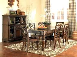 how big should an area rug be large size of under dining table yes or lovely