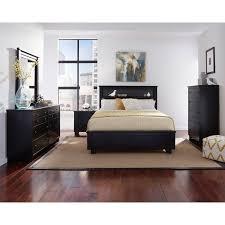 Black Contemporary 40 Piece Full Bedroom Set Diego RC Willey New Black Contemporary Bedroom Set
