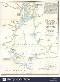 A Map Of Mobile Bay In The State Of Alabama Comprising The