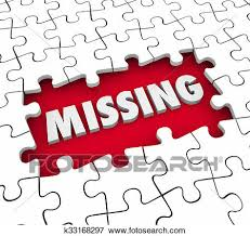 Word In Red Missing Puzzle Pieces 3d Word Find Solve Lacking Absent