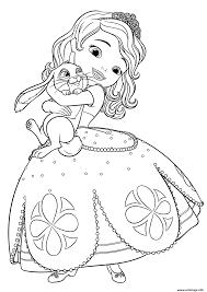 Coloriage Princesse Sofia Adore Son Lapin Dessin