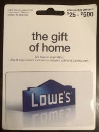 lowe s gift card 100 00 1 of 1 see more