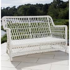 Everglades White Resin Wicker Patio Loveseat By Lakeview Outdoor