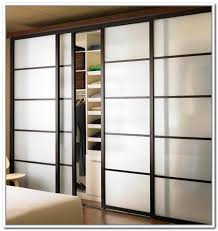 image of frosted glass bifold doors for closet