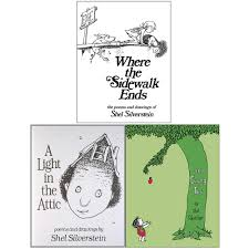 A Light In The Attic Poems List Shel Silverstein Collection 3 Books Set Where The Sidewalk