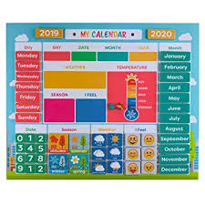 My First Daily Magnetic Calendar Weather Station For Kids Moods And Emotions Preschool Learning Toys Classroom Calendar Set Usable On Wall Or